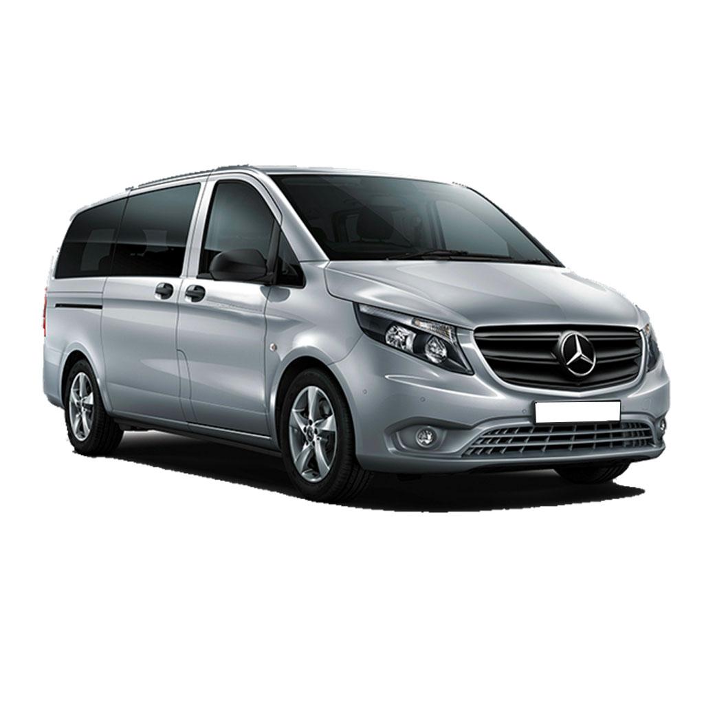 Furgoneta de pasajeros Mercedes VITO Tourer disponible para renting flexible